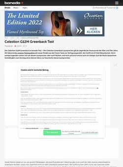 Bonedo.de Celestion G12M Greenback