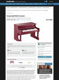 MusicRadar.com Korg tinyPIANO