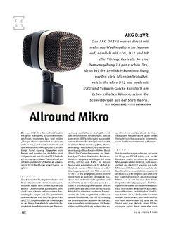 Gitarre & Bass AKG D12VR, Allround-Mikrofon