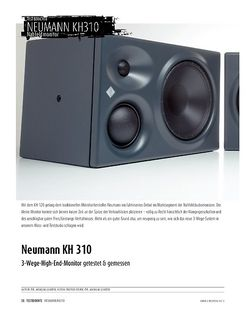 Sound & Recording Neumann KH 310 - 3-Wege-High-End-Monitor