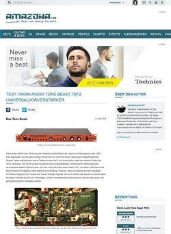 Amazona.de Test: Warm Audio Tone Beast TB12, Universalvorverstärker