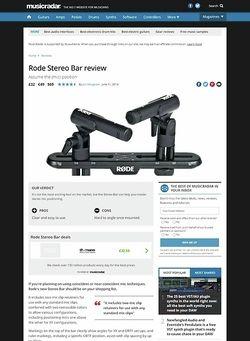 MusicRadar.com Rode Stereo Bar