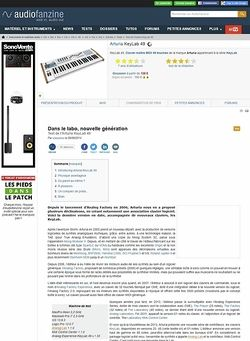 Audiofanzine.com Arturia KeyLab 49