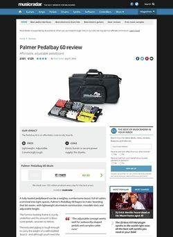 MusicRadar.com Palmer Pedalbay 60