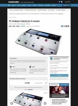 MusicRadar.com TC-Helicon VoiceLive 3