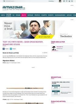 Amazona.de Test: Vic Firth News - Bass Drum Beater, Signature Sticks