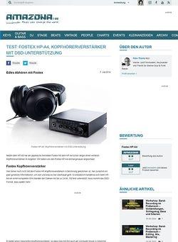 Amazona.de Test: Fostex HP-A4, Kopfhörerverstärker mit DSD-Unterstützung