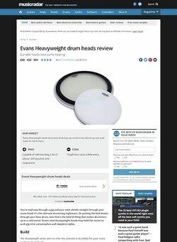 MusicRadar.com Evans Heavyweight drum heads