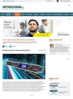 Amazona.de Test: dBX DriveRack PA2, Digitales Lautsprecher Management System