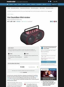MusicRadar.com Vox Soundbox Mini
