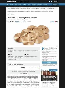 MusicRadar.com Paiste PST7 Series cymbals