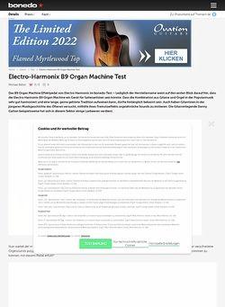 Bonedo.de Electro Harmonix B9 Organ Machine