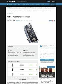 MusicRadar.com Xotic SP Compressor