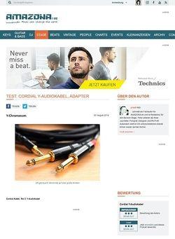 Amazona.de Test: Cordial Y-Audiokabel, Adapter