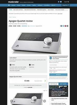 MusicRadar.com Apogee Quartet