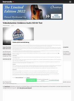 Bonedo.de Videokolumne: Evidence Audio SIS Kit