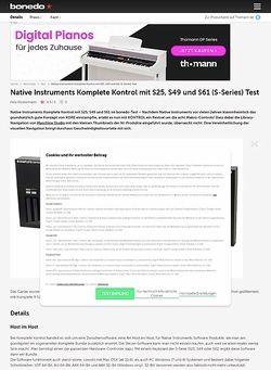 Bonedo.de Native Instruments Komplete Kontrol mit S25, S49 und S61