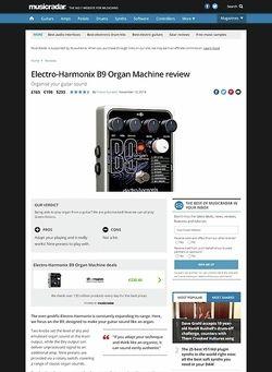 MusicRadar.com Electro-Harmonix B9 Organ Machine