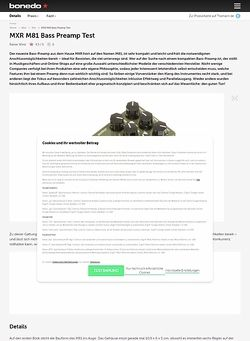 Bonedo.de MXR M81 Bass Preamp