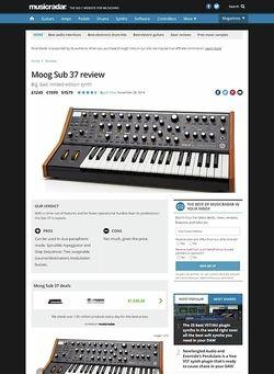 MusicRadar.com Moog Sub 37