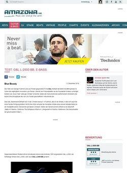 Amazona.de Test: G&L L-2500 BB, E-Bass