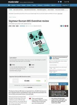 MusicRadar.com Seymour Duncan 805 Overdrive