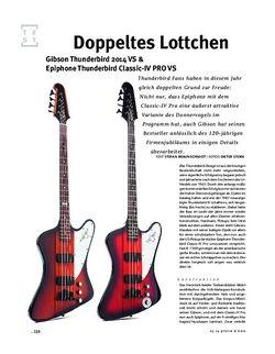 Gitarre & Bass Gibson Thunderbird 2014 VS & Epiphone Thunderbird Classic-IV PRO VS