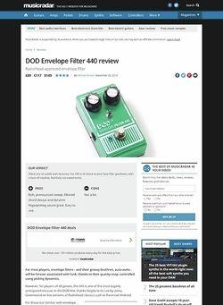 MusicRadar.com DOD Envelope Filter 440