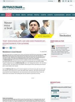 Amazona.de Test: DOD Envelope 440 und DOD Phasor 201, Effektgeräte für Gitarre