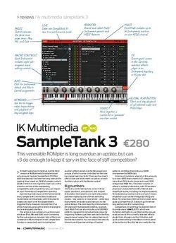 Computer Music IK Multimedia SampleTank 3