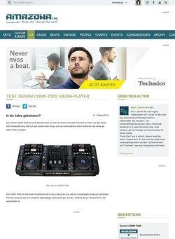 Amazona.de Test: Gemini CDMP-7000, Media-Player