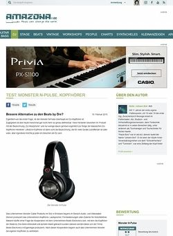 Amazona.de Test: Monster N-Pulse, Kopfhörer