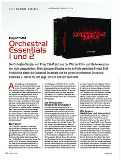 KEYS Project SAM Orchestral Essentials 1 und 2