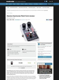 MusicRadar.com Electro-Harmonix Pitch Fork