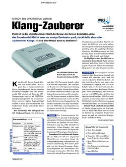 Tastenwelt Test: Ketron SD2 Orchestral Wizard - Klang-Zauberer