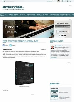 Amazona.de Test: Cakewalk Sonar Platinum, DAW