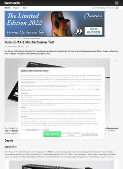 Bonedo.de Roland MX-1 Mix-Performer