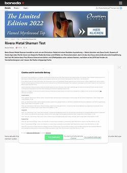 Bonedo.de Rivera Metal Shaman