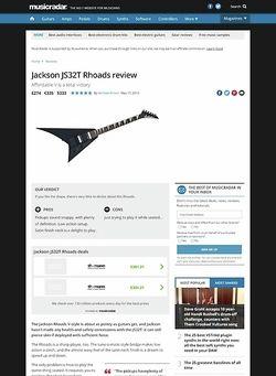 MusicRadar.com Jackson JS32T Rhoads