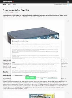 Bonedo.de Presonus AudioBox iTwo