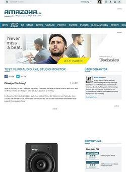 Amazona.de Test: Fluid Audio FX8, Studio Monitor