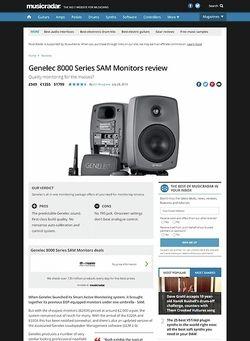 MusicRadar.com Genelec 8000 Series SAM Monitors