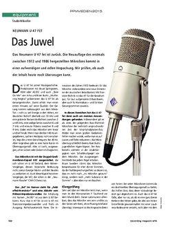 Recording Magazin Neumann U47 fet