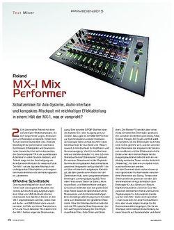 KEYS Roland MX-1 Mix Performer