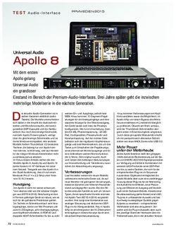 KEYS Universal Audio Apollo 8
