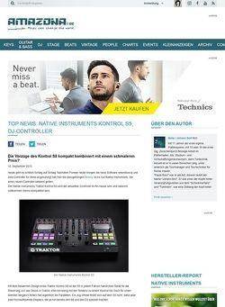 Amazona.de Top News: Native Instruments Kontrol S5, DJ-Controller
