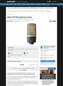 MusicRadar.com AKG C314