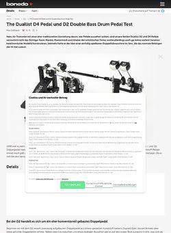 Bonedo.de The Duallist D4 Pedal und D2 Double Bass Drum Pedal