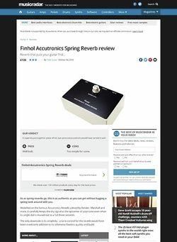 MusicRadar.com Finhol Accutronics Spring Reverb