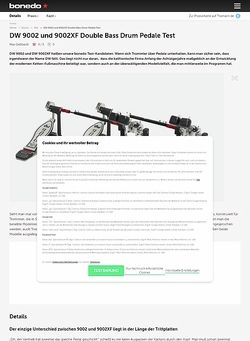 Bonedo.de DW 9002 und 9002XF Double Bass Drum Pedale